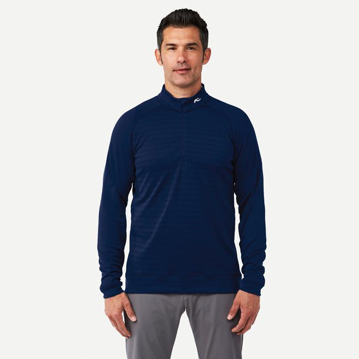 Men Keano Stripe Half-Zip