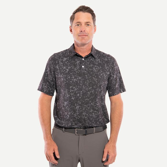 Men Motion Printed Polo S/S